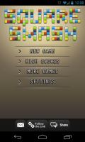 Square Smash Tetris Free - Main menu