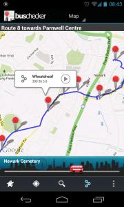 UK Bus Checker - Follow route (1)