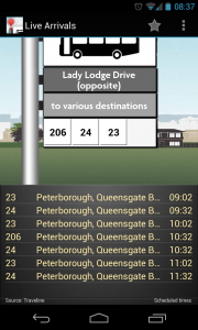 UK Bus Checker - Live bus timetable