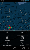 ViewTracker GPS - In-map menu