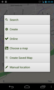 ViewTracker GPS - Menu