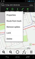 ViewTracker GPS - Tracking sub menu