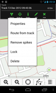 ViewTracker GPS - Tracking sub menu
