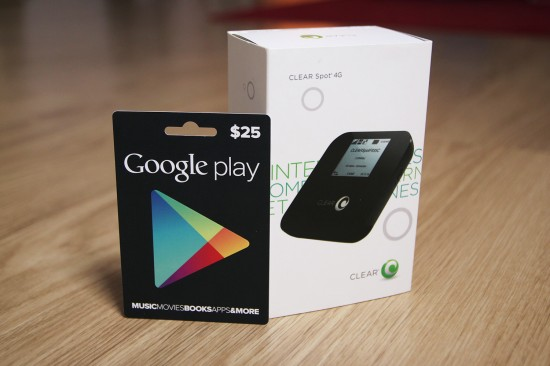 Day 14: #25DaysOfGiveaways – Win 4G Clear Hotspot & $25 Google Play Gift Card