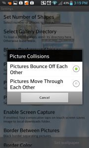 3D Pictures Live Wallpaper Set Picture Collisions