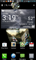 3D Pictures Live Wallpaper on Homescreen