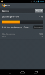 Avast - Scanning SD card