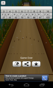 Bowling Online 3D - Game over