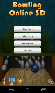 Bowling Online 3D - Menu