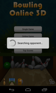 Bowling Online 3D - Searching online opponent