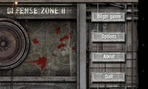 Defense Zone 2 HD - Menu