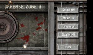 Defense Zone 2 HD - Settings