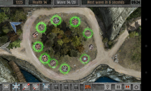 Defense Zone 2 HD - Towers glow green like this when they are ready for Hellfire activation