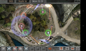 Defense Zone 2 HD - Towers glow red when in Hellfire mode