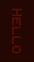 LED Light Text