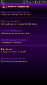 Lexathon Word Jumble Preferences