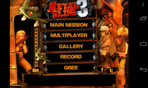 Metal Slug 3 - Menu