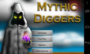 Mythic Diggers - Menu