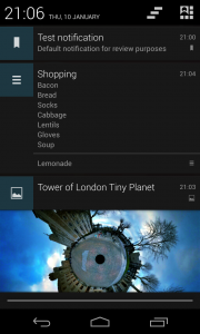Notif - Text notification, List and Picture