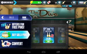 PBA Bowling Challenge Buy Gold Pins