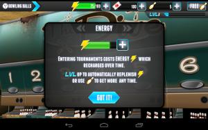 PBA Bowling Challenge Energy Explanation
