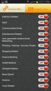PhoneSheriff Filter List