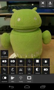 Pixlr Express - Adjustments menu