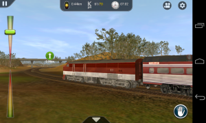 Trainz Driver - Graphics let you sweep round the train from different views