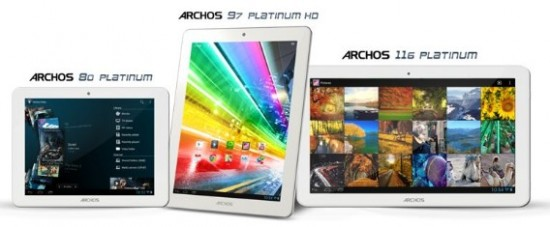 "ARCHOS introduces ""Platinum"" series: 8, 9.7 and 11.6-inch tablets"
