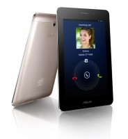 ASUS Fonepad with rear camera in Champagne Gold