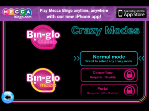 Bin-Glo Gaming Modes