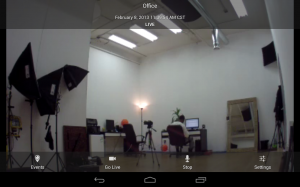 Dropcam for Android Live