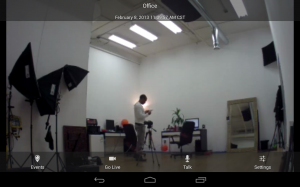 Dropcam for Android Viewing Past Event