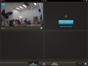 Dropcam for iPad List of Cameras