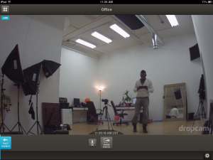 Dropcam for iPad Viewing Live
