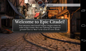 Epic Citadel - Welcome