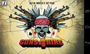 Guns 4 Hire - Intro screen