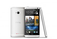HTC One in White - Front Back and Side Views