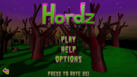 Hordz Start Screen