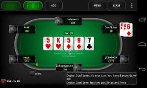 PokerStars.net - Chat box in the bottom right tells you what is going on