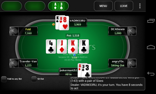mobile poker real money