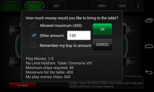 PokerStars.net - Joining a table