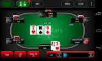 PokerStars.net - Turn options display in red