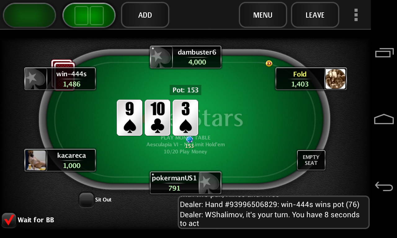 pokerstars net free