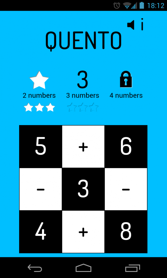 Quento – okay you Mathletes, beef up your simple arithmetic skills with this app