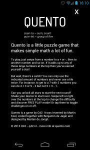 Quento - Instructions