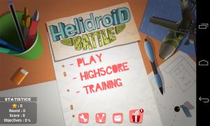 Helidroid Battle: 3D RC Copter - Menu