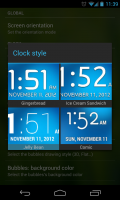 Simple Launcher - Clock styles