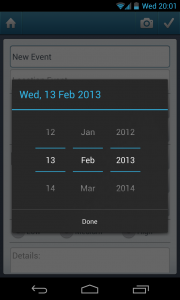 Simple Organizer Pro - Set date