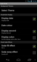 Soda Clock Live Wallpaper - Settings